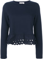 See by Chloe broderie anglaise jumper - women - Cotton - S