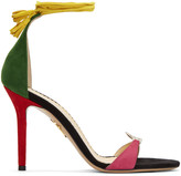Charlotte Olympia Multicolor Suede 'Let's Dance' Sandals