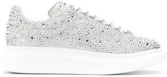 Alexander McQueen Crystal-Embellished Low-Top Sneakers