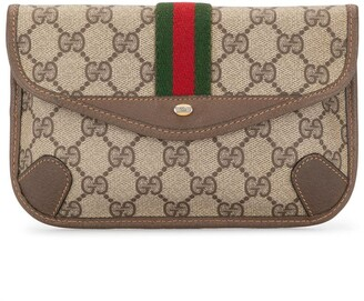 Gucci Pre-Owned Shelly Line GG pattern pouch