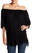 Anama Off-the-Shoulder Drop Waist Blouse