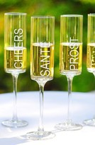 Cathy's Concepts 'Cheers!' Contemporary Champagne Flutes