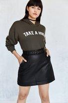 Silence & Noise Silence + Noise Belted Vegan Leather Mini Skirt