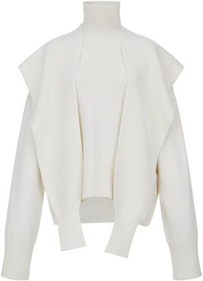 LE 17 SEPTEMBRE Le17 Septembre Draped Merino Wool Turtleneck Sweater