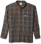 Carhartt Men's Big and Tall Fort Plaid Long Sleeve Shirt
