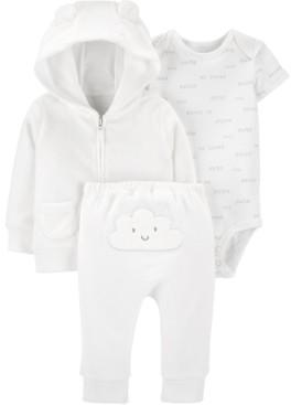 Carter's Baby Boys or Girls 3-Pc. Printed Bodysuit, Bear Hoodie & Pants Set