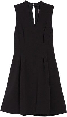 Vince Camuto V-Neck Back Keyhole Fit & Flare Dress