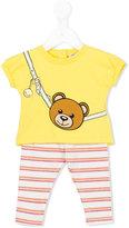 Moschino Kids - Teddy bear trouser set - kids - Cotton/Spandex/Elastane - 6-9 mth