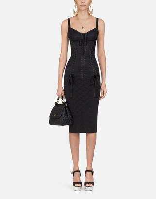 Dolce & Gabbana Jacquard And Lace Bustier Dress