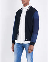 Diesel S-brother Cotton-jersey And Denim Bomber Jacket