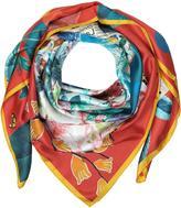 Christian Lacroix Rose d'Afrique Print Silk Wrap