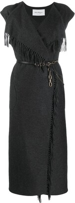 Salvatore Ferragamo Fringe Detail Knitted Dress