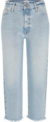 Ri Petite Petite High Waist Straight Leg Jean - Light Wash