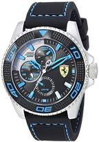 Ferrari Men's 'Kers Xtreme' Quartz Stainless Steel and Silicone Casual Watch