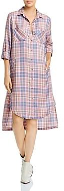 BILLY T Printed Shirt Dress