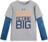 Under Armour Little Boys' Layered-Look Graphic-Print T-Shirt