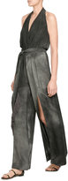 Tamara Mellon Washed Silk Jumpsuit