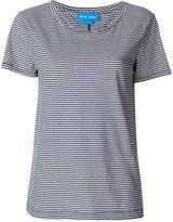 MiH Jeans scoop-neck striped T-shirt - women - Cotton - XS