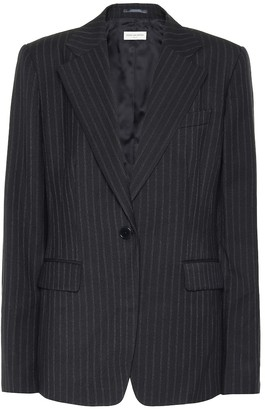 Dries Van Noten Striped wool-blend blazer