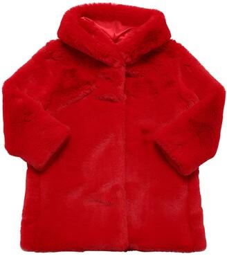 MonnaLisa Hooded Faux Fur Coat