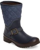 Sperry Walker Gray Canvas Quilt Boot (Women)