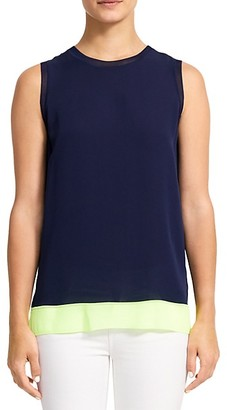 Theory Lewie Silk Tank Top