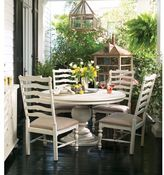 Paula Deen Home Round Pedestal Table in Linen Finish