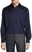 Eton Solid Dress Shirt, Navy