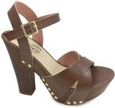 Brown Cross-Strap Sandal