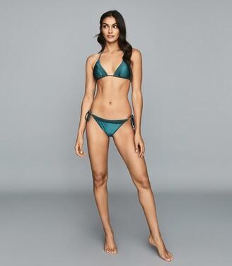 Reiss Elfrieda - Triangle Bikini Top in Green