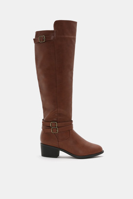 Ardene Faux Leather Over-the-Knee Boots - Shoes |