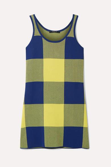 Derek Lam Gingham Stretch Jacquard-knit Top - Yellow