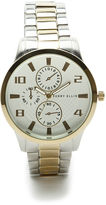 Perry Ellis Two Tone Round Case Watch