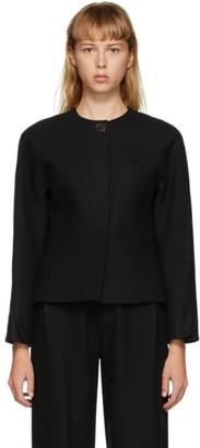 AMOMENTO Black Round Shoulder Jacket
