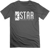 WBARD Men's Star Labs - The Flash Captain TV Laboratories S.T.A.R. Logo Comics DT Tshirt DeepHeather
