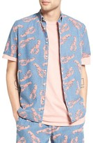 Barney Cools Men's Barney Cool Lobster Print Chambray Shirt