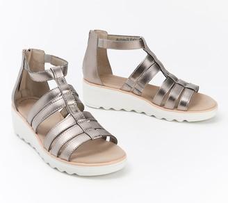 Clarks Collection Gladiator Wedge Sandals - Jillian Nina
