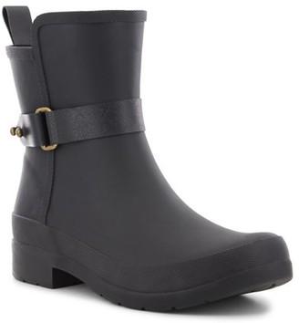 Chooka Women's Black Casual Waterproof Rain Boot Sidewalk Bootie