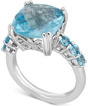 Macy's Blue Topaz Ring (6 ct. t.w.) in Sterling Silver