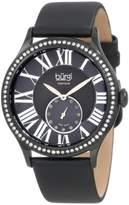 Burgi Women's BU56BK Swiss Quartz Diamond Strap Watch