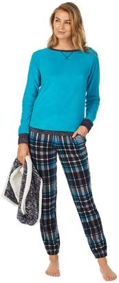 Cuddl Duds Petite 3-Piece Fleece Pajama Set