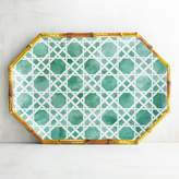 Pier 1 Imports Chinoiserie Turquoise Melamine Serving Platter