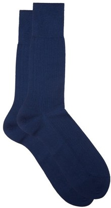 Falke No.2 Finest Cashmere-blend Socks - Blue
