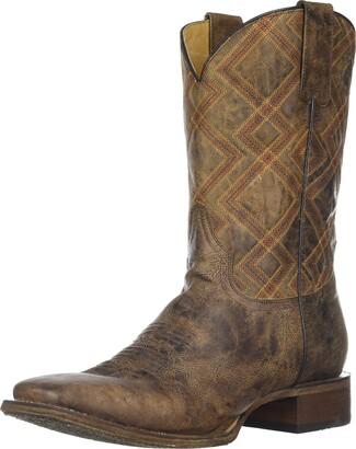 Roper Men's Nash Western Boot Brown 8.5 EE Wide US