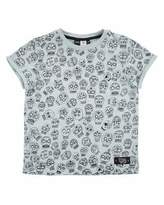 Molo River Sugar Skull Jersey Tee, Light Blue, Size 4-12