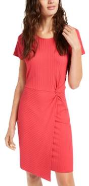 Ultra Flirt Juniors' Ribbed Twist-Front Dress