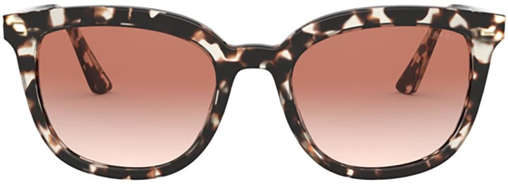 Thumbnail for your product : Prada Pr 03xs Talc Tortoise Sunglasses