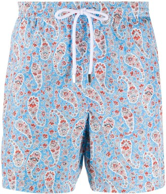 Barba Paisley-Print Swimming Shorts