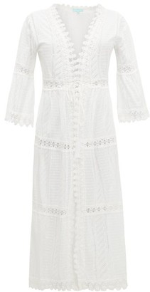Melissa Odabash Robbi Broderie-anglaise Cotton Dress - White