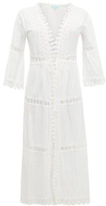 Melissa Odabash Robbi Broderie-anglaise Cotton Dress - Womens - White